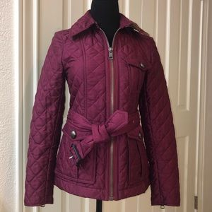Burberry Brit XS Fuschia Quilted Puffer Jacket